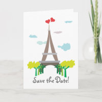 Paris Wedding Save the Date Card