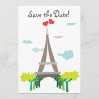 Paris Wedding Save the Wedding Date Cards
