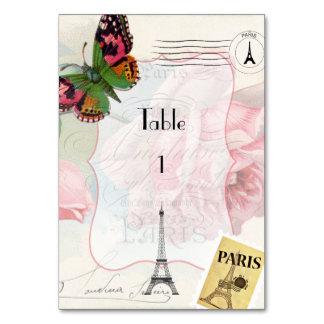 Paris Wedding Vintage Shabby-Chic Pink Rose Custom Card