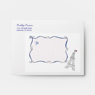 Paris Whimsy Personalized Envelopes