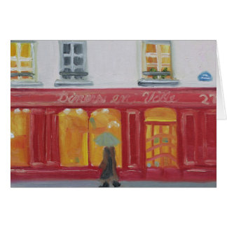 PARIS WINDOW SHOPPING NOTECARD STATIONERY NOTE CARD