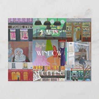 PARIS WINDOW SHOPPING postcard