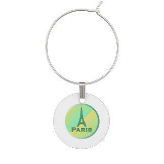 Paris Wine Glass Charm