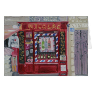 PARIS WINE SHOP NOTECARD STATIONERY NOTE CARD