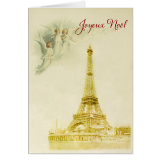 Paris with angels Christmas card