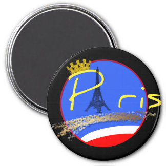 Paris with Crown - Magnet
