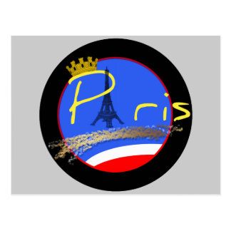 Paris with Crown - Post Card