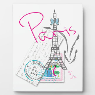 Paris with love and Eiffel Tower Plaque