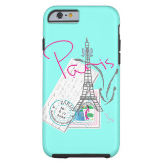 """Paris with love"" Eiffel+tower and Letter Tough iPhone 6 Case"