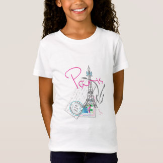 """""""Paris with Love, Eiffel Tower"""" French T-Shirt"""