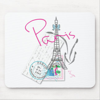 Paris with love mouse pad