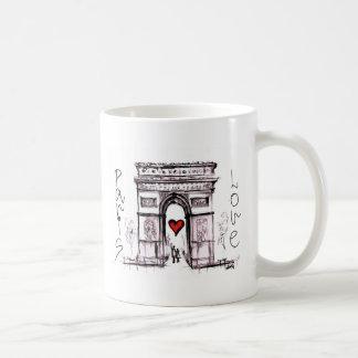 Paris with love classic white coffee mug