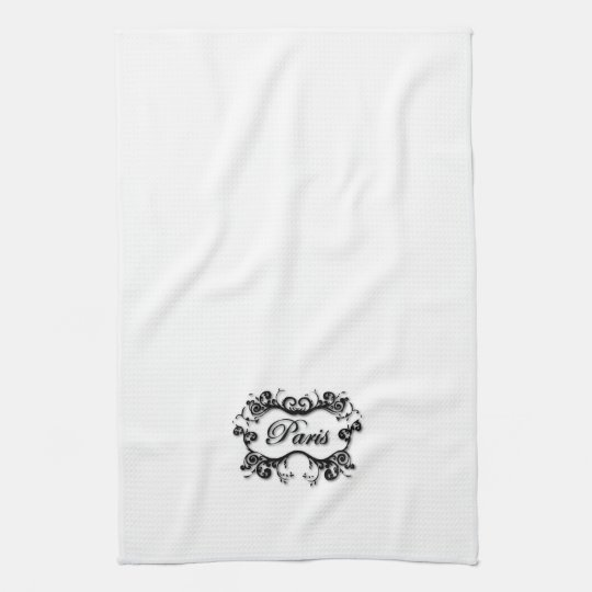 Paris with Scrolls Kitchen Towel