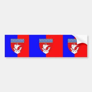 Paris With Shield, France Bumper Sticker
