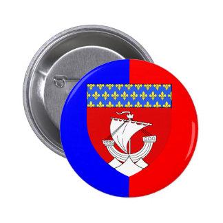 Paris With Shield, France Button