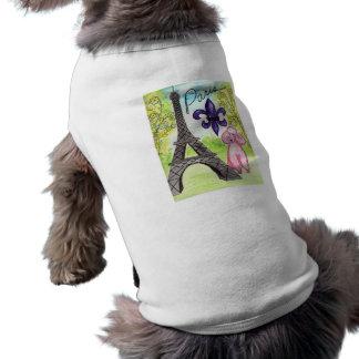 París y el caniche ropa de perro