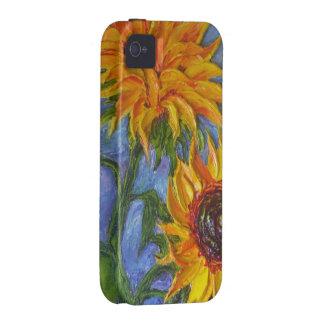 Paris' Yellow Sunflower iPhone 4 Case
