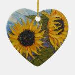 Paris' Yellow Sunflower Ornament