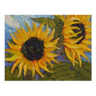 Paris' Yellow Sunflower Postcard