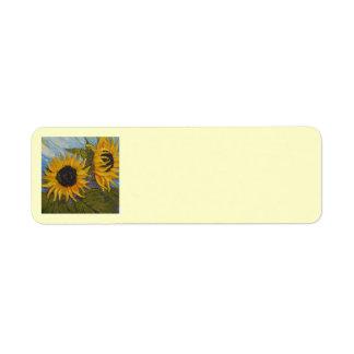 Paris' Yellow Sunflower Return Address Label