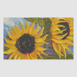 Paris' Yellow Sunflower Round Sticker