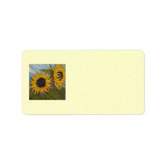 Paris' Yellow Sunflowers Address Label
