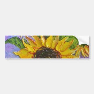 Paris' Yellow Sunflowers Bumper Sticker