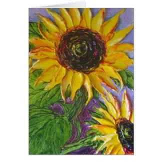 Paris' Yellow Sunflowers Card