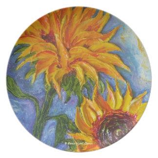 Paris' Yellow Sunflowers Plate