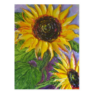 Paris' Yellow Sunflowers Postcard