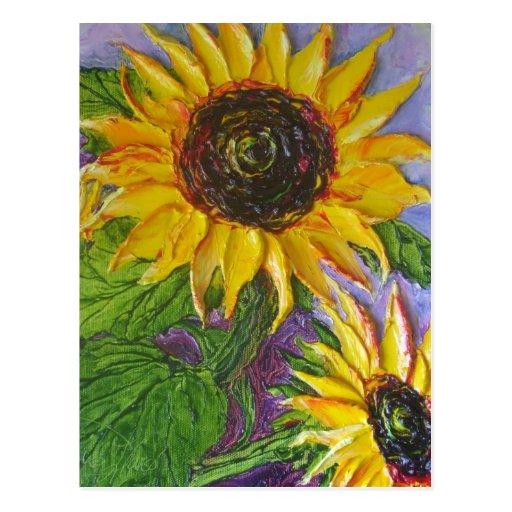 Paris' Yellow Sunflowers Post Cards