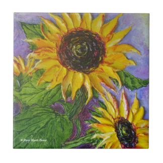 Paris Yellow Sunflowers Tile