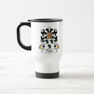 Parise Family Crest 15 Oz Stainless Steel Travel Mug