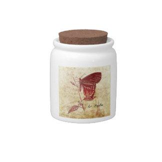 Parisenne Le Papillon et La Fleur Vintage Art Candy Dish