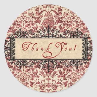 Parisenne Thank You Classic Round Sticker