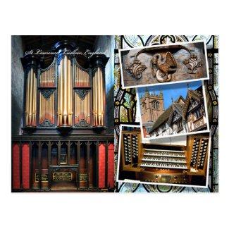 Parish Church, Ludlow, montage postcard