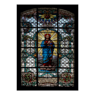 Parish Church Stained Glass Window Poster