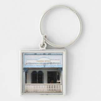 Parish office, Sulangan Silver-Colored Square Keychain
