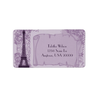Parisian Amethyst Address Label