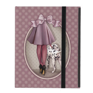 Parisian and its Dalmatian in walk iPad Cover