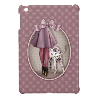 Parisian and its Dalmatian in walk iPad Mini Cover