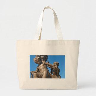 Parisian architecture large tote bag