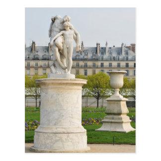 Parisian architecture postcard
