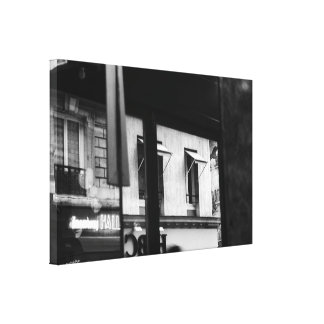 Parisian Atmopshere Windows and Reflections Canvas