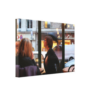 Parisian Atmosphere Caline Rue Rambuteau Canvas