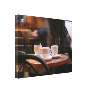 Parisian Atmosphere Coffee Guest or Ghost Canvas