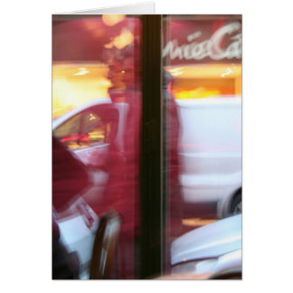 Parisian Atmosphere in motion Greeting card