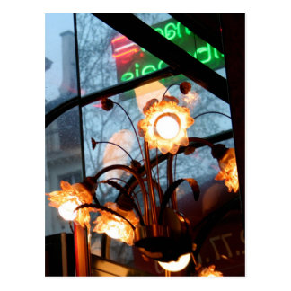 Parisian Atmosphere Lamps and reflection Postcard