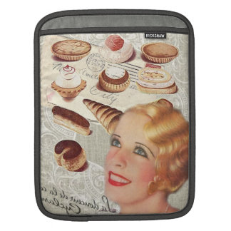 parisian bakery cupcake pastry cookies cupcake iPad sleeve