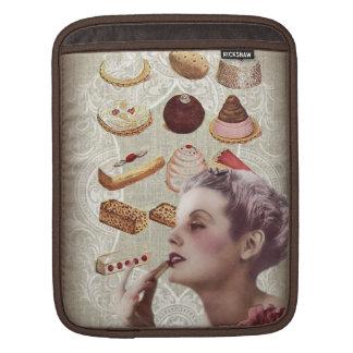 parisian bakery cupcake pastry retro cookies iPad sleeve